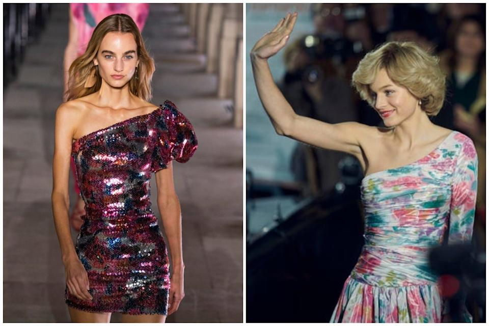 <p>Isabel Marant AW20, Emma Corrin plays Diana in The Crown</p>Imaxtree/Netflix
