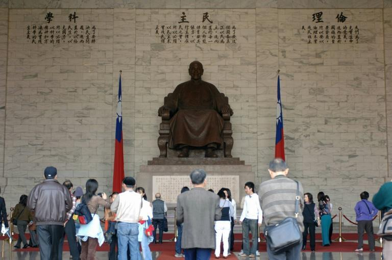 A bronze statue of former president Chiang Kai-shek has long been the subject of fierce, emotional and polarising debate in Taiwan (AFP/SAM YEH)