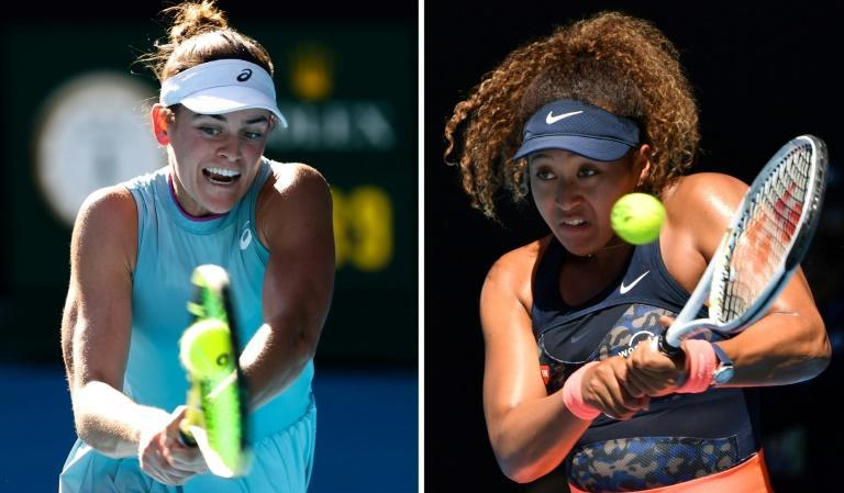 Jennifer Brady (L) will play Naomi Osaka (R) in the Australian Open final