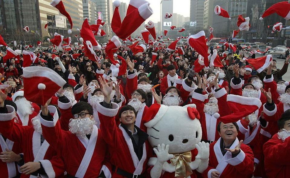 <p>Children in South Korea love Grandpa Santa (or Santa Harabujee). Businesses hire people to dress as Santa to greet customers and give out treats. However, when it comes to exchanging gifts with loved ones, money is actually the most popular gift every year.</p>
