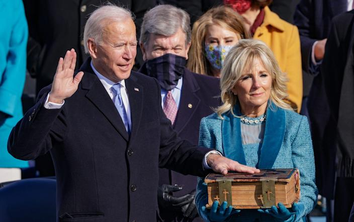 Biden takes the Oath in front of the Capitol - GETTY IMAGES