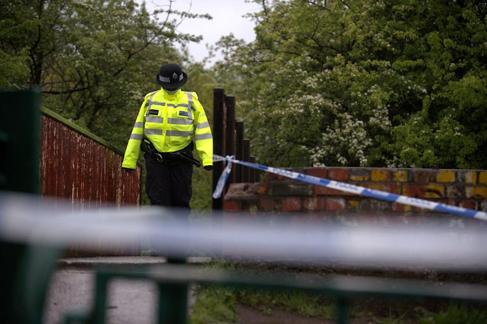Police carried out a search of the scene on Friday (swns)