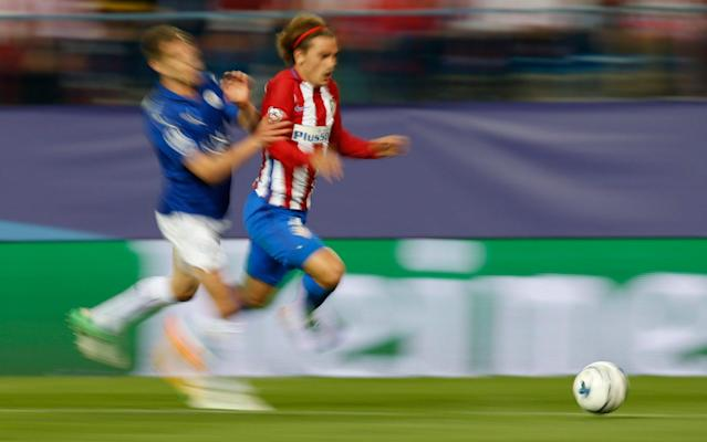 <span>Griezmann has the speed to terrify opponents' defenders, as Leiceseter City learnt to their cost in the first leg of their Champions League quarter-final at Vicente Calderón</span> <span>Credit: REUTERS </span>
