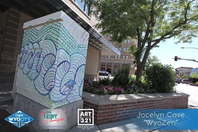 """""""WyoZen"""" by Jocelyn Case.Located at the NW Corner of Wolcott and 2nd Streets."""