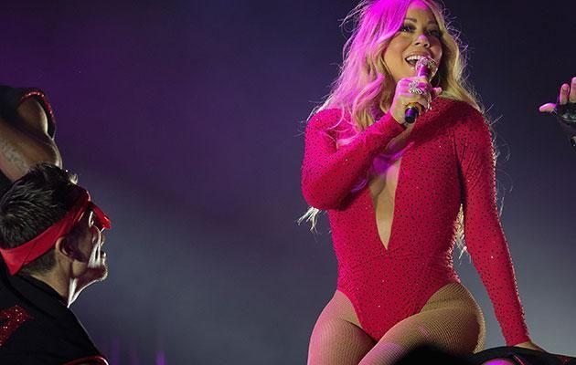 Mariah on stage. Source: Getty