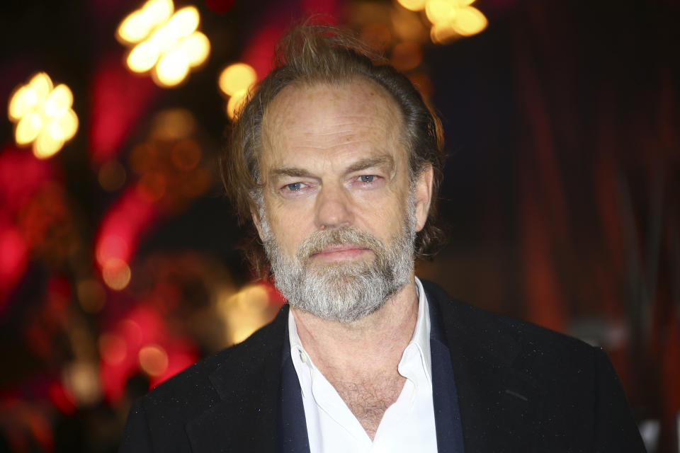 Actor Hugo Weaving poses for photographers upon arrival at the premiere of the film 'Mortal Engines' in central London, Tuesday, Nov. 27, 2018. (Photo by Joel C Ryan/Invision/AP)