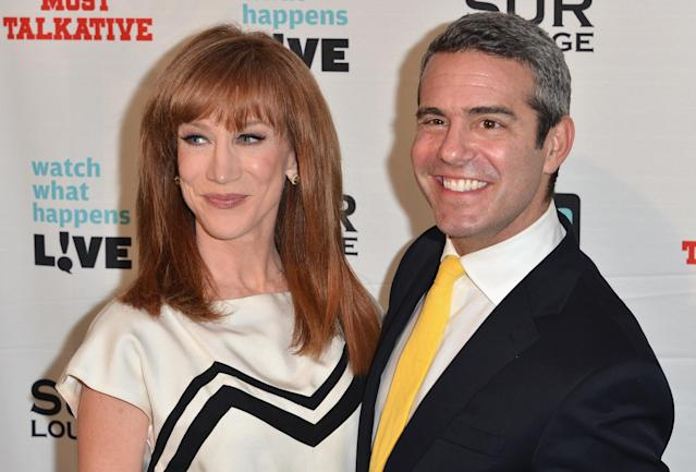 Kathy Griffin and Andy Cohen at SUR Lounge on May 14, 2012 in Los Angeles, California. (Photo: Getty Images)