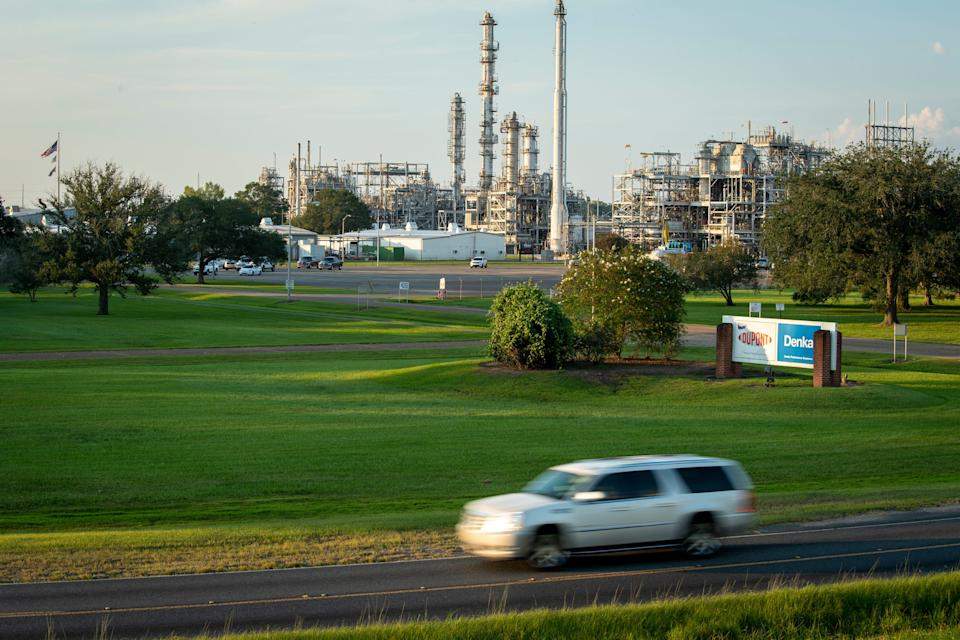 The Denka Performance Elastomer neoprene plant sits just a few hundred yards from the residential streets of Reserve, La. The EPA classified chloroprene as a likely carcinogen in 2010 and has been closely monitoring air quality near the plant since 2016.