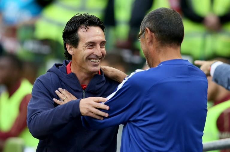 Arsenal manager Unai Emery (left) and Chelsea boss Maurizio Sarri are preparing to go head to head in the Premier League