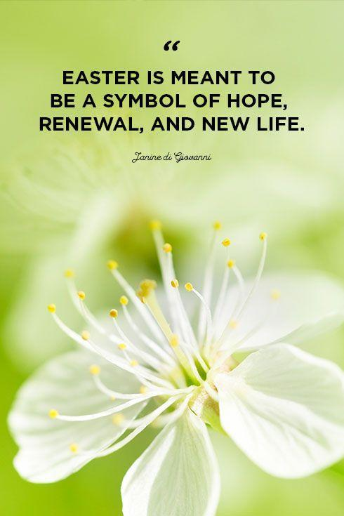 """<p>""""Easter is meant to be a symbol of hope, renewal, and new life.""""</p>"""