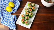 """<p>We want all Greek, all the time.</p><p>Get the recipe from <a href=""""https://www.delish.com/cooking/recipe-ideas/recipes/a54125/greek-cucumber-cups-recipe/"""" rel=""""nofollow noopener"""" target=""""_blank"""" data-ylk=""""slk:Delish"""" class=""""link rapid-noclick-resp"""">Delish</a>.</p>"""