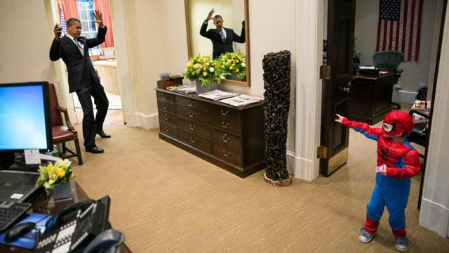 Obama Goes Viral With Spiderman Pic