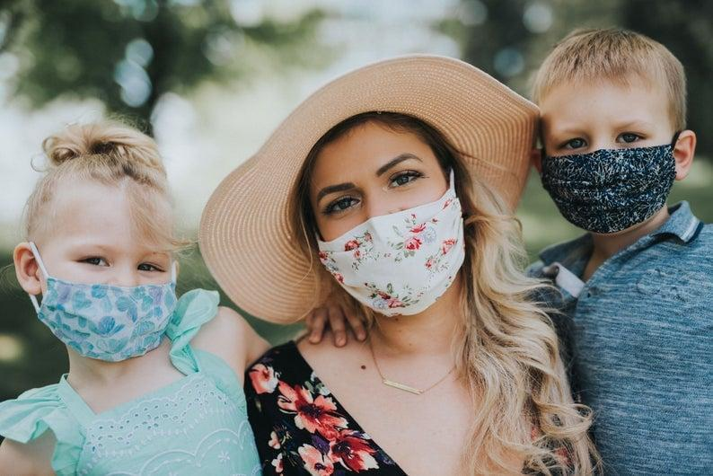 <p>This <span>Face Mask With Filter Pocket &amp; Nose Wire</span> ($22) is good for the whole family.</p>
