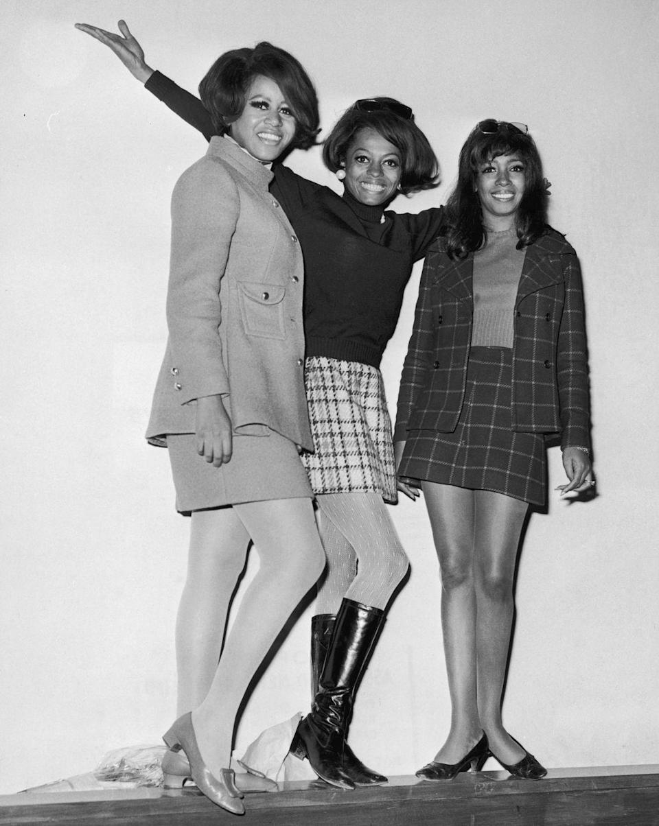 <p>It's hard to talk about fashion during the mod era without making note of the role that skirt suits played. Along with the rise of the micro mini, the two-piece suit was a great balance between being polished and feminine, without having to rely on a dress. Not to mention, the skirt suit can also be dressed down with flat loafers or knee-high boots à la Diana Ross with The Supremes. </p>