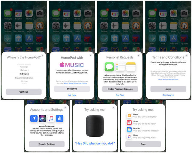 The iPhone walks you through the HomePod setup. No iPhone? No HomePod for you!