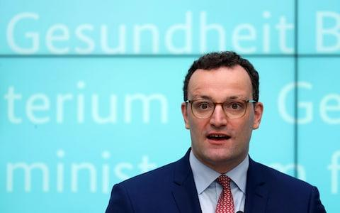 German Health Minister Jens Spahn speaks during a press conference on the presentation of three new draft bills in Berlin, Germany, 17 July 2019. The new laws include the prevention and spreading of measles through a compulsory vaccination program. - Credit: FELIPE TRUEBA/EPA-EFE/REX