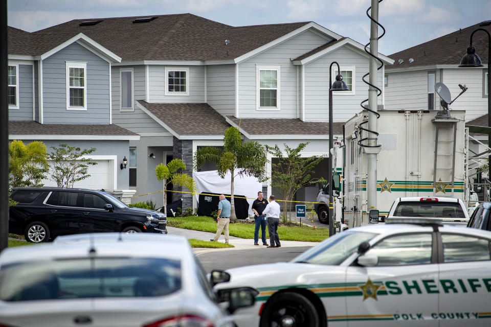 Polk County Sheriff's officials said Shaun Runyon, wielding a knife and baseball bat, killed three co-workers and injured another at the Florida home they shared. Source: The Ledger via AP