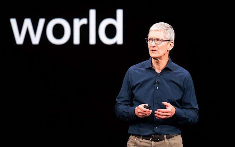 Mr Cook has sought to position Apple as a champion of people's privacy - AFP