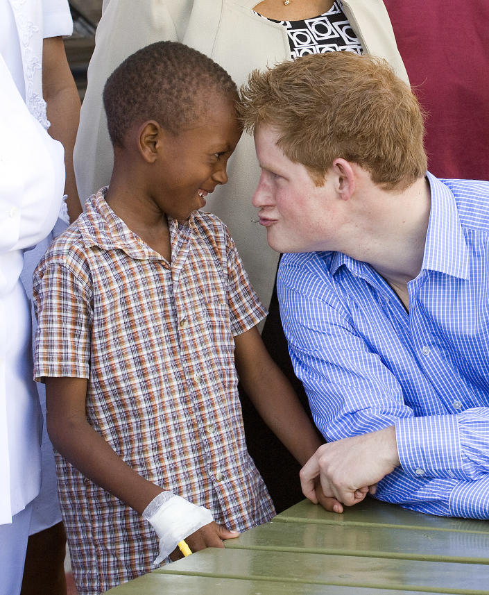 Prince Harry was captured by Arthur Edwards in Barbados