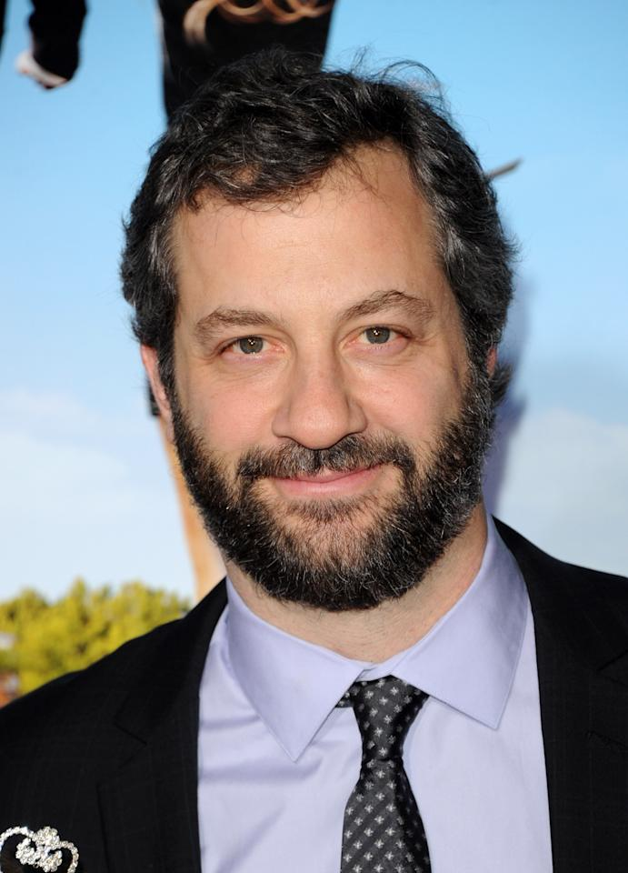 """WESTWOOD, CA - FEBRUARY 16:  Producer Judd Apatow arrives at the premiere of Universal Pictures' """"Wanderlust"""" held at Mann Village Theatre on February 16, 2012 in Westwood, California.  (Photo by Jason Merritt/Getty Images)"""