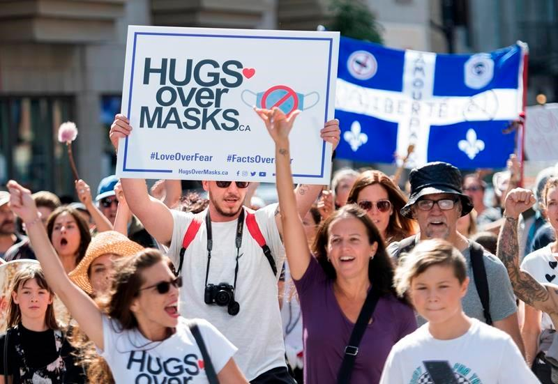 Police in Quebec can issue fines to those refusing to wear masks when obligatory