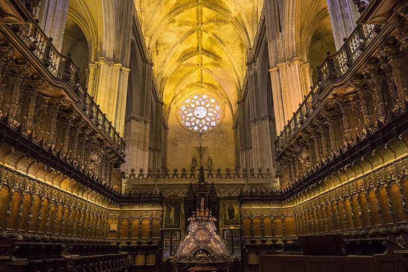 The interior of Seville cathedral (isogood via Getty Images)