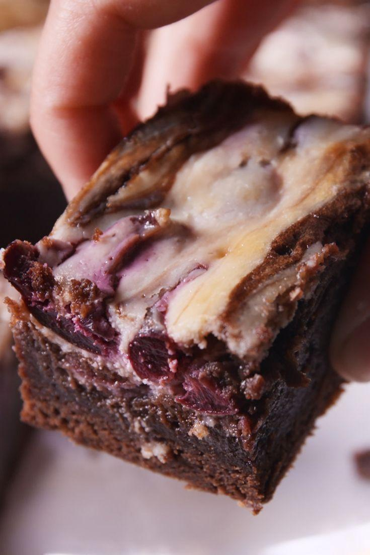 """<p>Ben and Jerry would flip for these brownies.</p><p>Get the recipe from <a href=""""https://www.delish.com/cooking/recipe-ideas/recipes/a48932/cherry-garcia-brownies-recipe/"""" rel=""""nofollow noopener"""" target=""""_blank"""" data-ylk=""""slk:Delish"""" class=""""link rapid-noclick-resp"""">Delish</a>.</p>"""