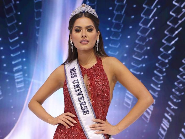 Miss Mexico Andrea Meza is crowned Miss Universe 2021.