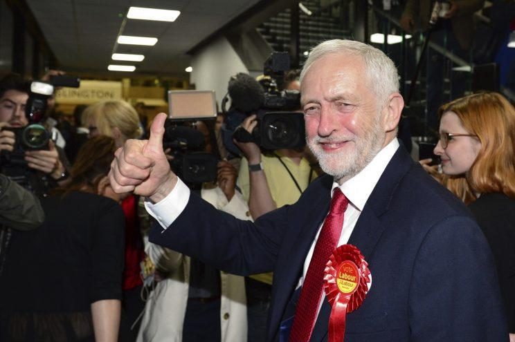 Jeremy Corbyn at Labour HQ on Friday (Vickie Flores/LNP/REX/Shutterstock)