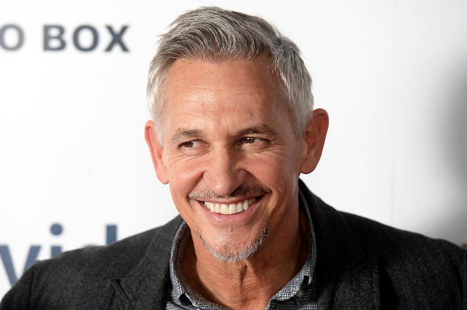 LONDON, ENGLAND - NOVEMBER 14:  Gary Lineker attends the World Premiere of 'Make Us Dream' at The Curzon Soho on November 14, 2018 in London, England. (Photo by Dave J Hogan/Dave J Hogan/Getty Images)
