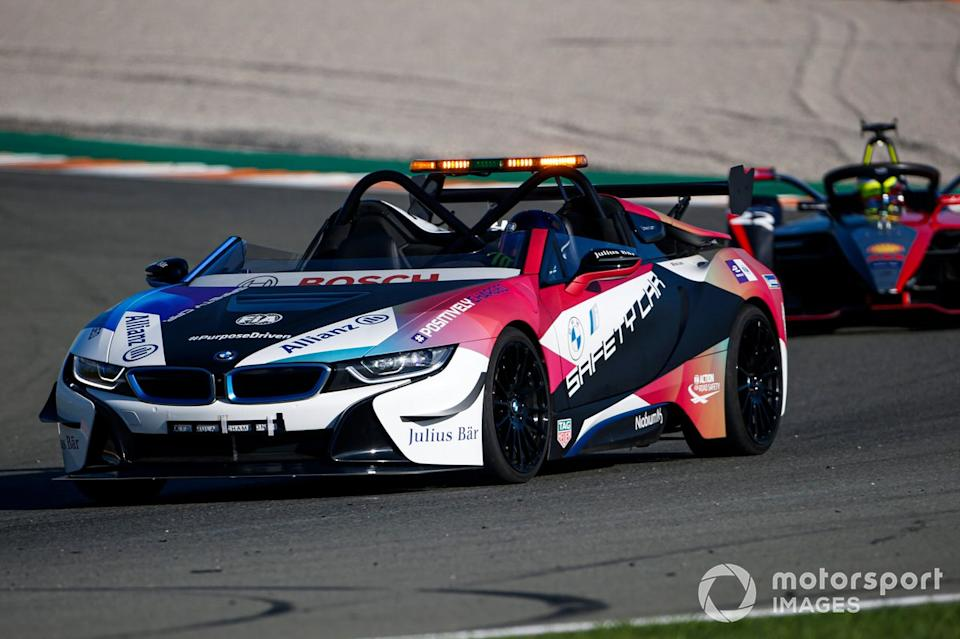 """BMW i8 Safety car<span class=""""copyright"""">Andrew Ferraro / Motorsport Images</span>"""