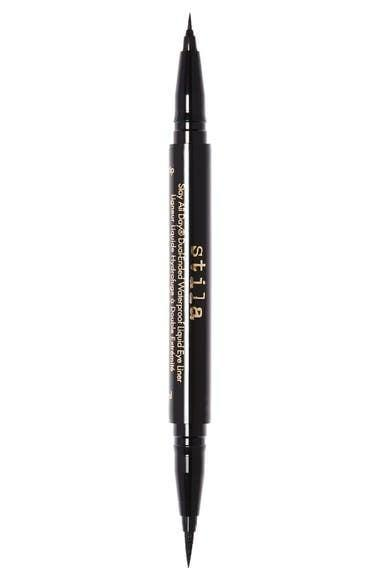 <p>From graphic liner looks to the perfect wing, the <span>Stila Stay All Day Dual-Ended Waterproof Liquid Eyeliner</span> ($28) has got all your liner needs covered. One side has a precision felt tip applicator and the other side has an ultrathin micro tip.</p>