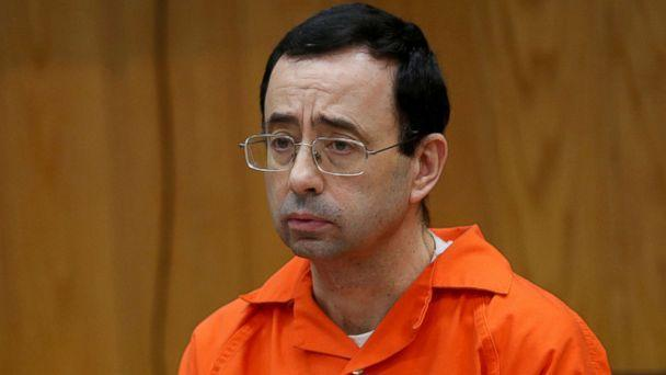 PHOTO: Larry Nassar, a former team USA Gymnastics doctor who pleaded guilty in November 2017 to sexual assault, listens to victims impact statements during his sentencing in the Eaton County Circuit Court in Charlotte, Mich., Jan. 31, 2018. (Rebecca Cook/Reuters, FILE)
