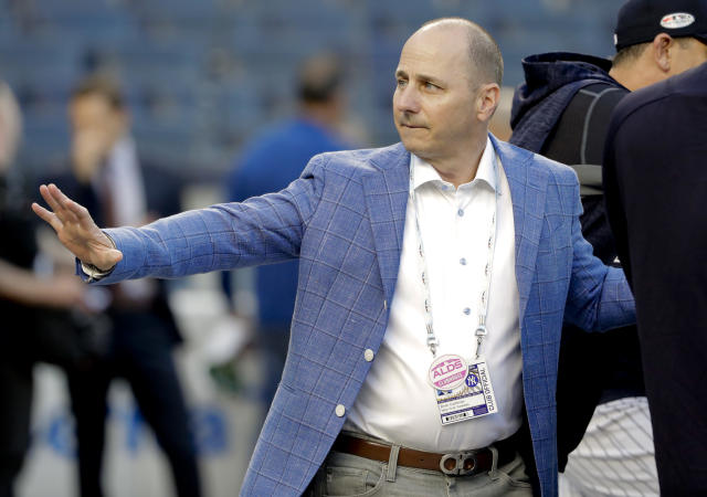 Brian Cashman isn't wrong; the Yankees are going to be an imposing presence next season. (AP Photo)