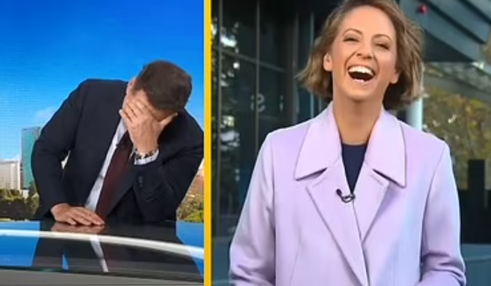 today show karl stefanovic laughing and brooke boney