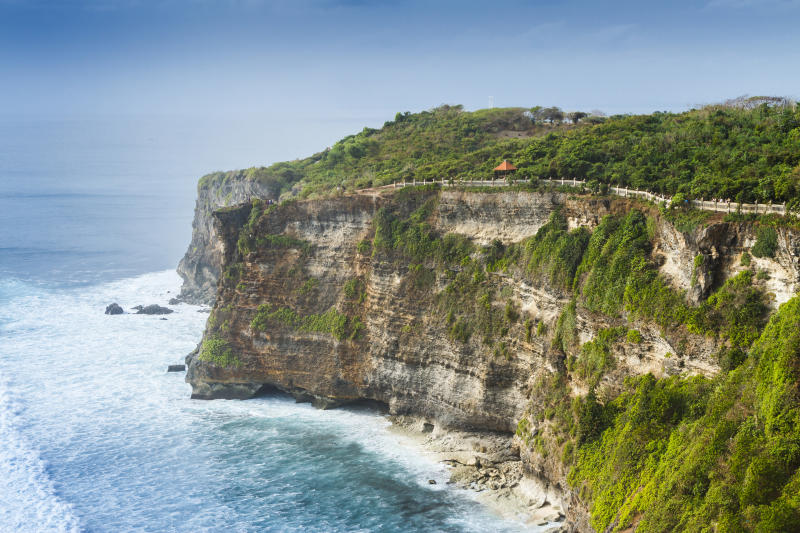 The Uluwatu cliffs in Bali, Indonesia.