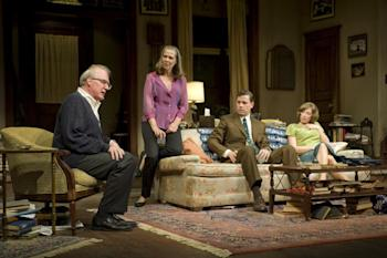 Tracy Letts, Amy Morton, Madison Dirks, and Carrie Coon during a performance of 'Who's Afraid of Virginia Woolf?'