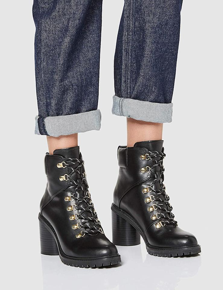 """<p>Hiking-inspired shoes are a big trend right now, and I love the gold details on these <a href=""""https://www.popsugar.com/buy/find-Chunky-Boots-536423?p_name=find.%20Chunky%20Boots&retailer=amazon.com&pid=536423&price=54&evar1=fab%3Aus&evar9=47060305&evar98=https%3A%2F%2Fwww.popsugar.com%2Ffashion%2Fphoto-gallery%2F47060305%2Fimage%2F47060760%2Ffind-Chunky-Boots&list1=shopping%2Camazon%2Ceditors%20pick%2Cwinter%20fashion&prop13=mobile&pdata=1"""" rel=""""nofollow"""" data-shoppable-link=""""1"""" target=""""_blank"""" class=""""ga-track"""" data-ga-category=""""Related"""" data-ga-label=""""https://www.amazon.com/Amazon-Brand-find-Chunky-Hiker/dp/B07R59SG5M/ref=sr_1_326?dchild=1&amp;qid=1577988698&amp;s=apparel&amp;sr=1-326&amp;th=1&amp;psc=1"""" data-ga-action=""""In-Line Links"""">find. Chunky Boots</a> ($54). They will add some edge to a printed dress and go perfectly with all my jeans.</p>"""