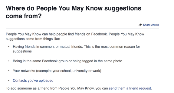 how does facebook find people you may know