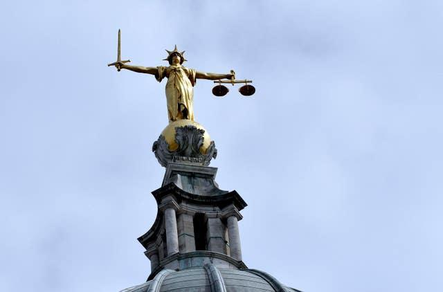 The statue of Lady Justice (Nick Ansell/PA)