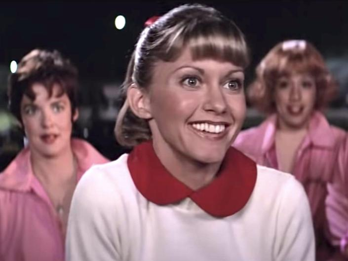 grease sandy and pink ladies