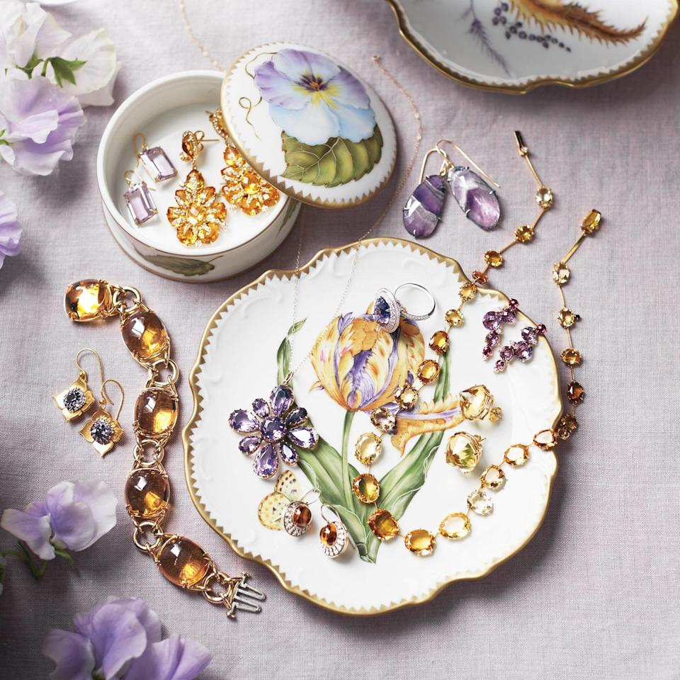 porcelain dish and jewelry