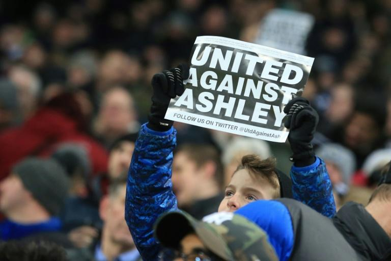 Newcastle United fans have long campaigned for the departure of owner Mike Ashley (AFP/Lindsey PARNABY)