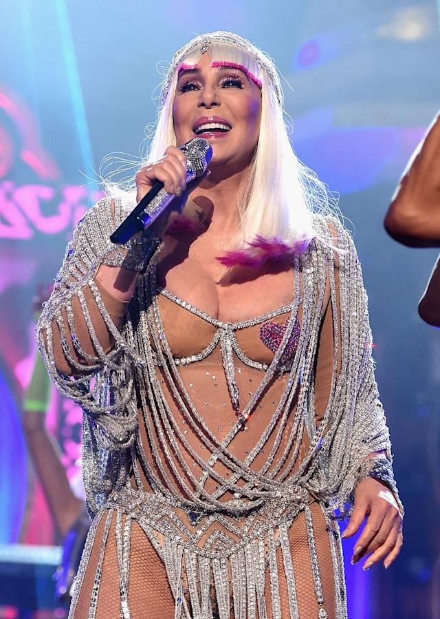 <p>Cher performs onstage during the 2017 Billboard Music Awards at T-Mobile Arena on May 21, 2017 in Las Vegas, Nevada. (Photo by John Shearer/BBMA2017/Getty Images for dcp) </p>