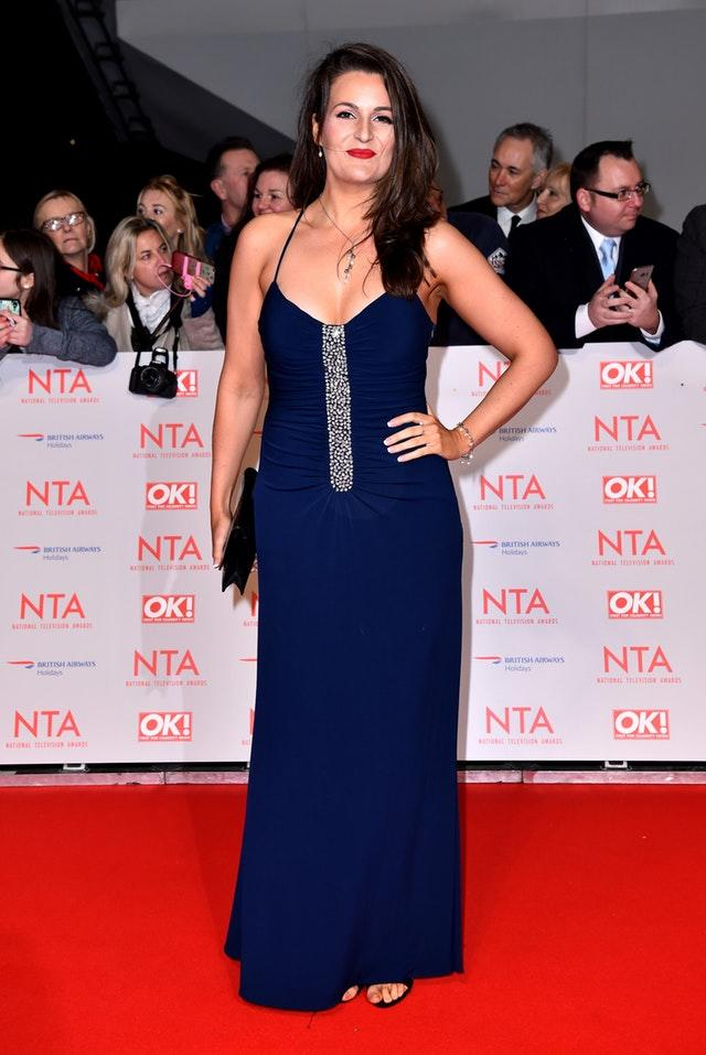 Sophie Faldo attending the National Television Awards