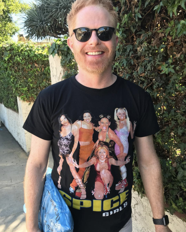 "<p>""My husband has been gone for a week. I miss him, so now I'm wearing his clothes,"" the <em>Modern Family</em> actor quipped, showing off his Spice Girls tour T-shirt. ""#GiveTheSpiceGirlsAllTheGrammys,"" he added. (Photo: <a href=""https://www.instagram.com/p/Beghnrgn9Dc/?taken-by=jessetyler"" rel=""nofollow noopener"" target=""_blank"" data-ylk=""slk:Jesse Tyler Ferguson via Instagram"" class=""link rapid-noclick-resp"">Jesse Tyler Ferguson via Instagram</a>) </p>"