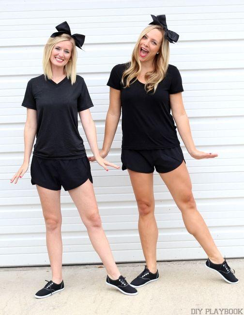"""<p>You and your bestie can go as the dancing friends emoji in these simple <a href=""""https://www.countryliving.com/diy-crafts/g21349110/best-friend-halloween-costumes/"""" rel=""""nofollow noopener"""" target=""""_blank"""" data-ylk=""""slk:best friend Halloween costumes"""" class=""""link rapid-noclick-resp"""">best friend Halloween costumes</a>.</p><p><strong>Get the tutorial at <a href=""""https://thediyplaybook.com/2015/10/diy-emoji-costume.html"""" rel=""""nofollow noopener"""" target=""""_blank"""" data-ylk=""""slk:The DIY Playbook"""" class=""""link rapid-noclick-resp"""">The DIY Playbook</a>.</strong></p><p><strong><a class=""""link rapid-noclick-resp"""" href=""""https://www.amazon.com/Soffe-Juniors-Athletic-Short-Black/dp/B000FZXI7C?tag=syn-yahoo-20&ascsubtag=%5Bartid%7C10050.g.4571%5Bsrc%7Cyahoo-us"""" rel=""""nofollow noopener"""" target=""""_blank"""" data-ylk=""""slk:SHOP BLACK SHORTS"""">SHOP BLACK SHORTS</a></strong></p>"""