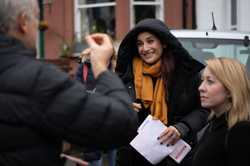 Luciana Berger (centre) quit the Labour Party over