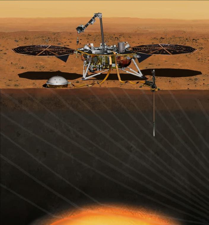 FILE PHOTO: The NASA Martian lander known as InSight is seen in an undated artist's rendering