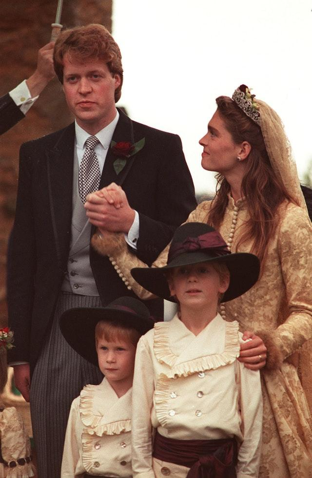 Harry as a pageboy